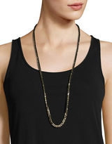 Eileen Fisher Studded Ribbon Necklace