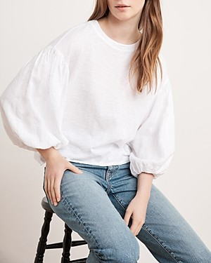 Velvet by Graham & Spencer Genevieve Puff-Sleeve Top