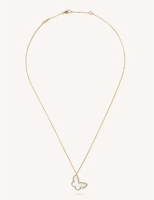 Van Cleef & Arpels Sweet Alhambra yellow-gold and mother-of-pearl pendant