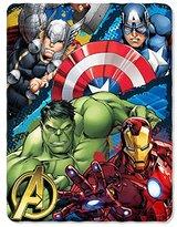Marvel Marvels Avengers Defend Earth Fleece Throw - 46x 60