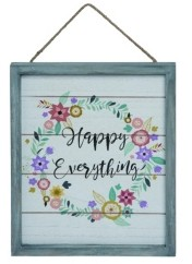 Transpac Trans Pac Multicolor Easter Hello Spring Hanging Wall Decor