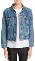 Helmut Lang Women's Flannel Lined Denim Jacket