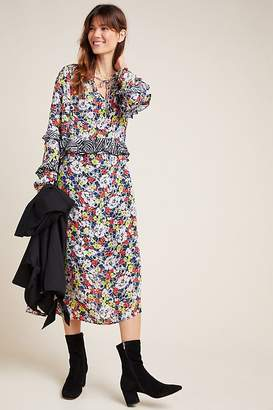 Lily & Lionel Rina Mixed-Print Dress