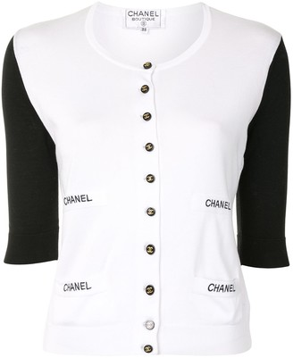Chanel Pre Owned CC buttons cardigan