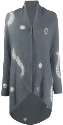 Suzusan Oversized Tie-Dye Effect Cardigan