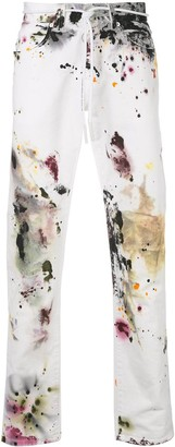 Off-White splattered slim jeans