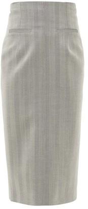 Racil Melissa Herringbone-wool Pencil Skirt - Grey