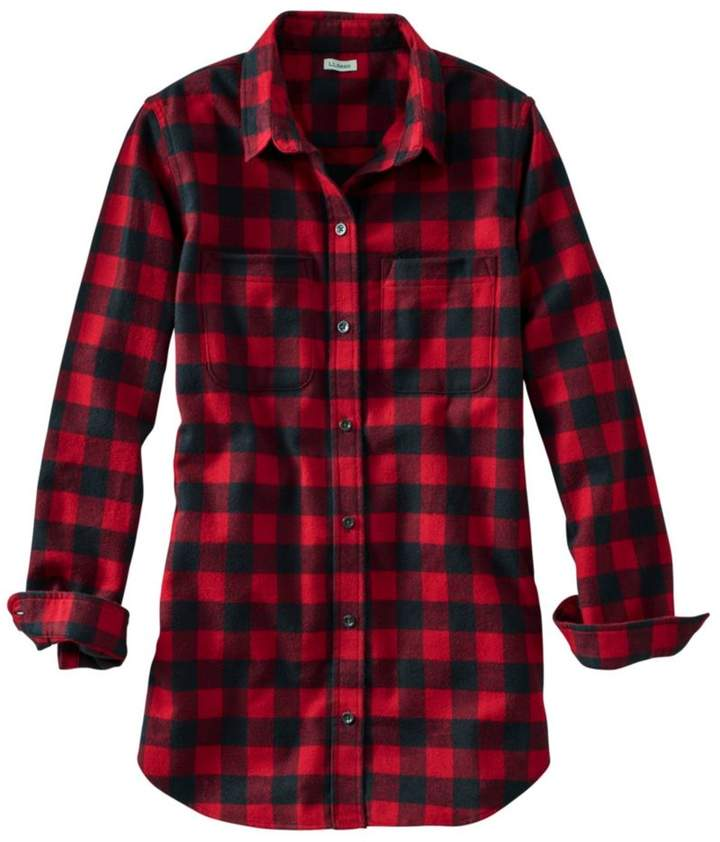 L.L. Bean L.L.Bean Women's Scotch Plaid Flannel Shirt, Tunic