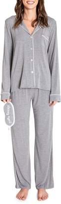 PJ Salvage Modal Basics 3-Piece Melange Pyjama Set