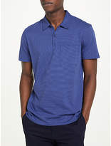 Kin by John Lewis Micro Stripe Polo Shirt, Blue