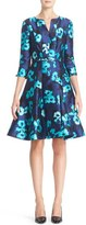 Oscar de la Renta Women's Floral Print Silk Blend Dress
