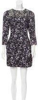 Mulberry Silk Abstract Dress