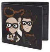 Dolce & Gabbana Calf Leather Applique Wallet
