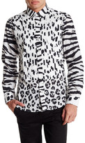 Moschino Long Contrast Sleeve Pattern Shirt