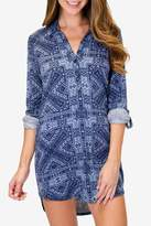 PJ Salvage Blue Batik Nightshirt