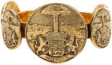 One Kings Lane Vintage Chanel Tarots Coin Gold Cuff