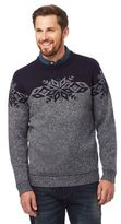 Mantaray Grey Fair Isle Patterned Jumper With Wool