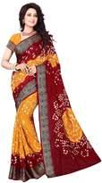 Snreks Collection Cotton Silk & Mustard Printed Women's Bandhani Saree