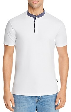Giorgio Armani Emporio Contrast Band Collar Shirt