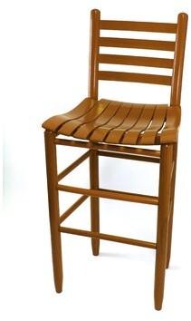"""Thor Wood Ladder Back 24"""" Patio Bar Stool Gracie Oaks Frame Color: Woodleaf White"""