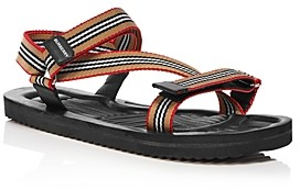 Burberry Men's Patterson Stripe Strap Sandals
