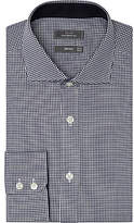 John Lewis Non Iron Gingham Tailored Fit Shirt, Navy