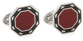Jan Leslie Octagon Enamel Border Cufflinks