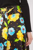 Boutique Silk hanky hem print skirt