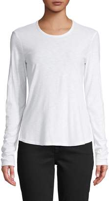 James Perse Long-Sleeve Cotton-Blend Tee