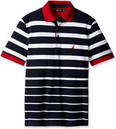 Nautica Men's Big and Tall Short Sleeve Gradient Stripe Polo Shirt