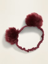 Old Navy Faux-Fur Pom-Pom Headband for Baby