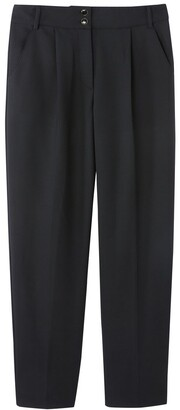 Vanessa Seward X La Redoute Collections Straight Cut Pleated Trousers, Length 32""