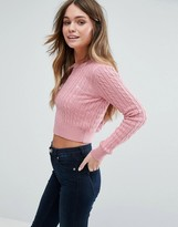 Jack Wills Tinsbury Crew Neck Cable Jumper