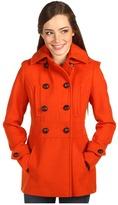 Kensie Drop Waist Pea Coat (Carrot) - Apparel