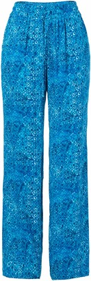 Green Dragon Women's Batik I Bleu Evelyn Beach Pant