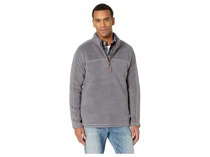 True Grit Bonded Fleece 1/4 Zip Pullover with Side Pockets and Sherpa Lining