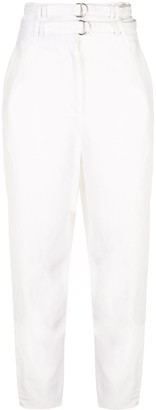 Proenza Schouler Double-Belted Tapered Trousers
