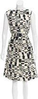 Lela Rose Abstract Knee-Length Dress