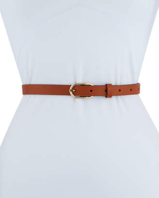 Frame Petite Oval Buckle Leather Belt