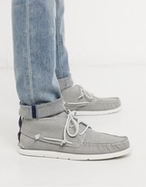 UGG leather chukka shoes in grey