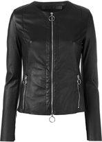 Drome collarless zipped jacket