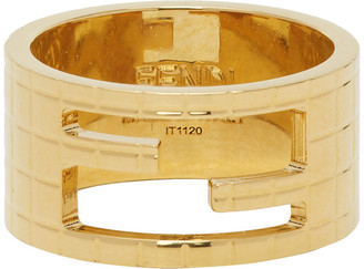 Fendi Gold Logo Ring