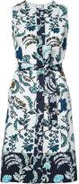 Oscar de la Renta floral print wrap dress - women - Cotton - 8