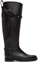 Burberry Black Roscot Riding Rain Boots