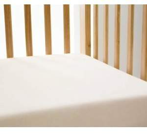 Dudu N Girlie Cotton Jersey Cot Bed Fitted Sheets, 70x140 cm, 2-Piece, Cream