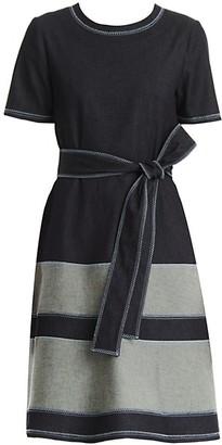 Carolina Herrera Stretch-Denim Tea Dress