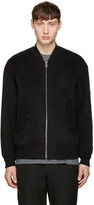 Alexander Wang Black Patches Bomber Jacket