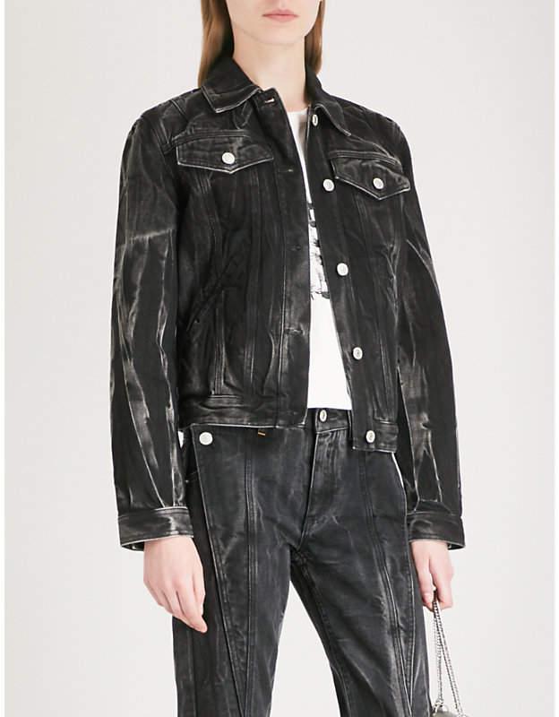 Givenchy Logo-embellished denim jacket
