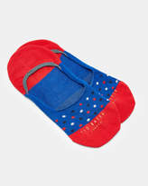Ted Baker DELILEH Spotted cotton sneaker liners