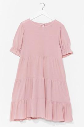 Nasty Gal Womens Hot Puff Tiered Mini Dress - Pink - S/M, Pink